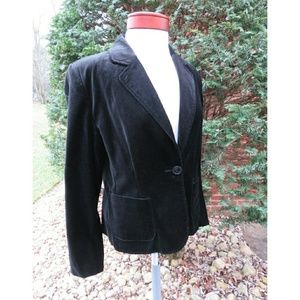 Favorite Layering Holiday Velvet Blazer Black 12